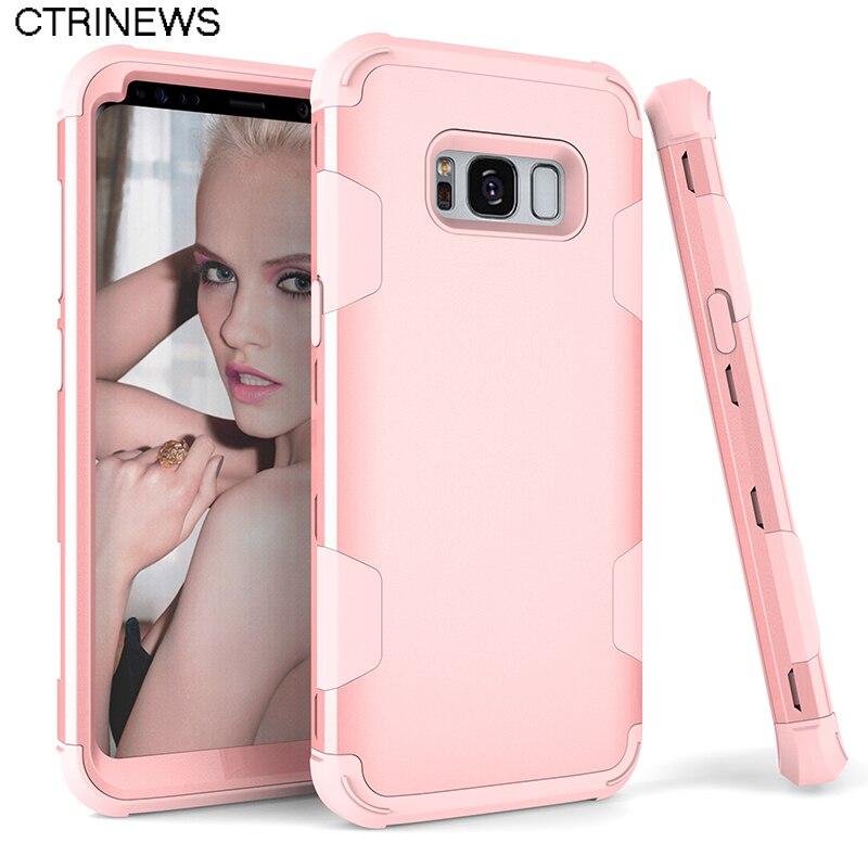Para Samsung Galaxy Caso S8 S8 más de Lujo Híbrido Armor Duro Caja Del Teléfono