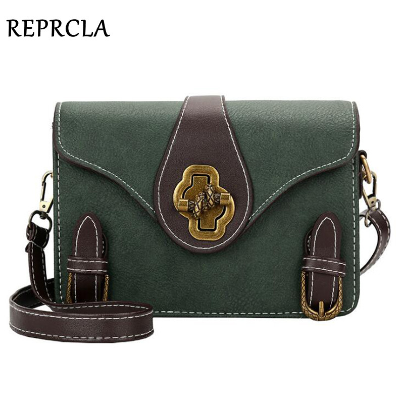 REPRCLA Vintage Flap Women Bag PU Leather Shoulder Bags Brand Designer Handbag Ladies Crossbody Women Messenger Bags