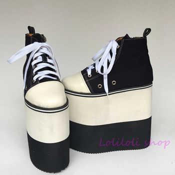 Princesa dulce gótico lolita zapatos Lolilloliyoyo antaina diseño japonés grueso doble color inferior negro zapatos planos yd001-4