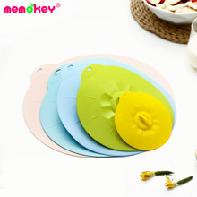 цена на 5pcs/set Silicone Cooking Food Storage Suction Lid Microwave food cover frying pan lids Bowl Cover silicone pot lid cover B