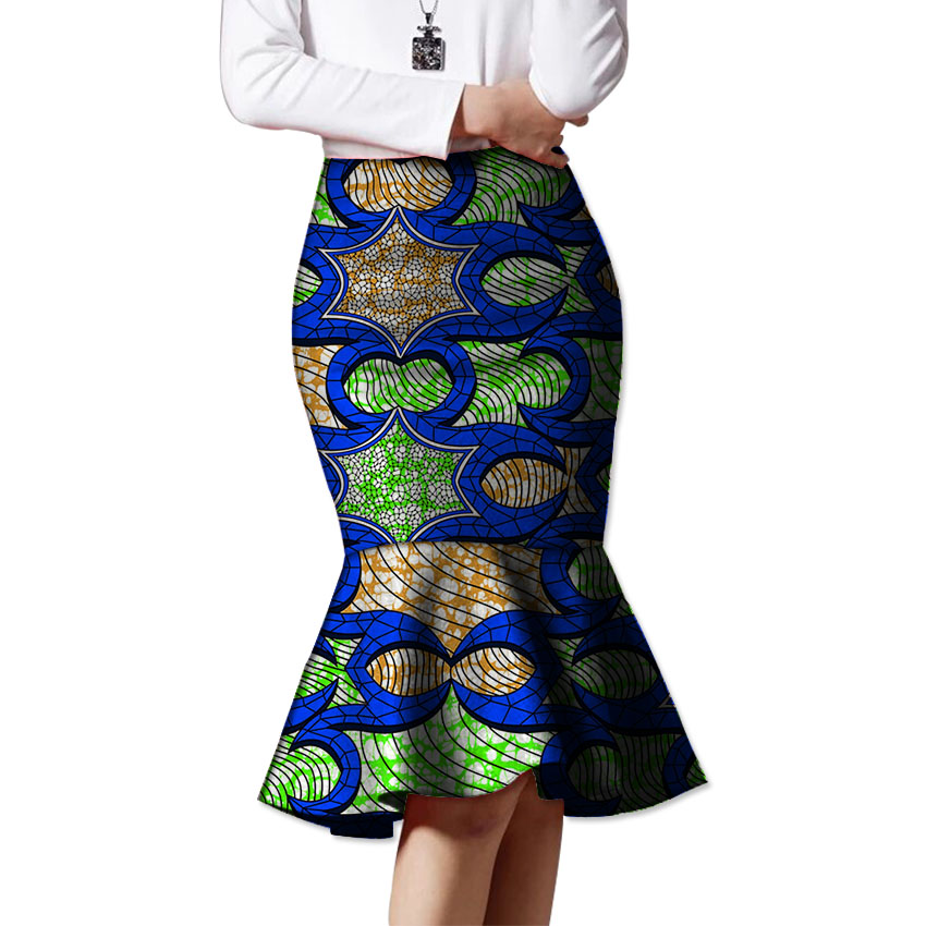 African beautiful fishtail skirt design women african fashion skirts ladies dashiki element africa clothing tailored custom