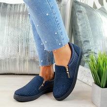 MCCKLE/весенняя обувь; женские слипоны со стразами; лоферы на плоской подошве на молнии из тисненой кожи; женские блестящие модные мокасины на платформе