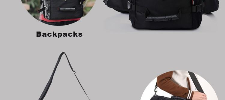 KAKA Men Backpack Travel Bag Large Capacity Versatile Utility Mountaineering Multifunctional Waterproof Backpack Luggage Bag 11