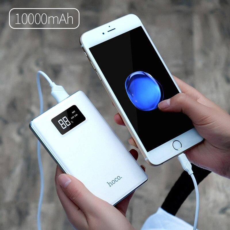 Original hoco lcd display banco de la energía 10000 mah móvil cargador rápido de