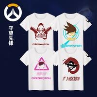 Milk Silk T Shirt Game OW Genji Reaper Soldier 76 Unisex Cosplay T Shirt Summer Top