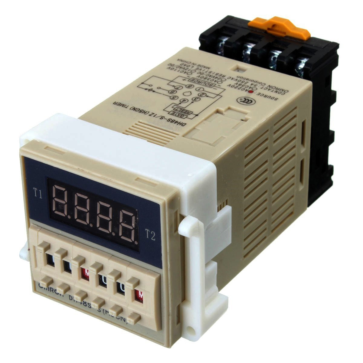 THGS AC 220V 5A Programmable Double Time Timer Delay Relay Device Tool DH48S-S