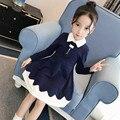 Платье с длинными рукавами для девочек хлопок Винтаж платье подростков одежда для подростков назад к школьные наряды 10 12 14 Kinderkleding Meisjes