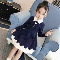 Girl Long Sleeve Dress Cotton Vintage Dress Kid Teens Teenage Clothes Back To School Outfits 6 7 8 9 14 15 Kinderkleding Meisjes