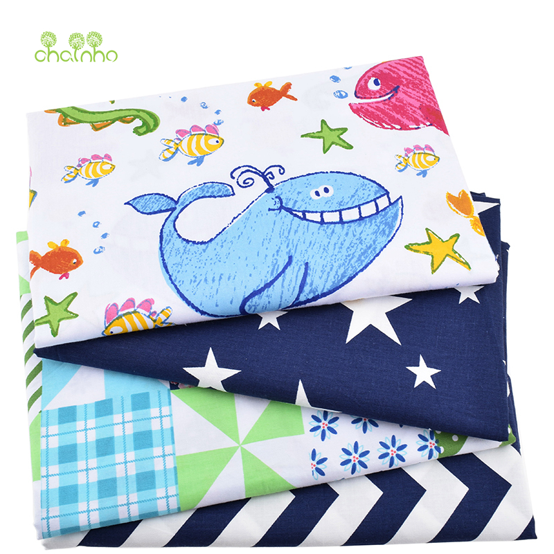 Printed Twill Cotton Fabric For Sewing Quilting Cartoon Tissue Baby Bed Sheets Sleepwear Children Dress Skirt Material HalfMeter
