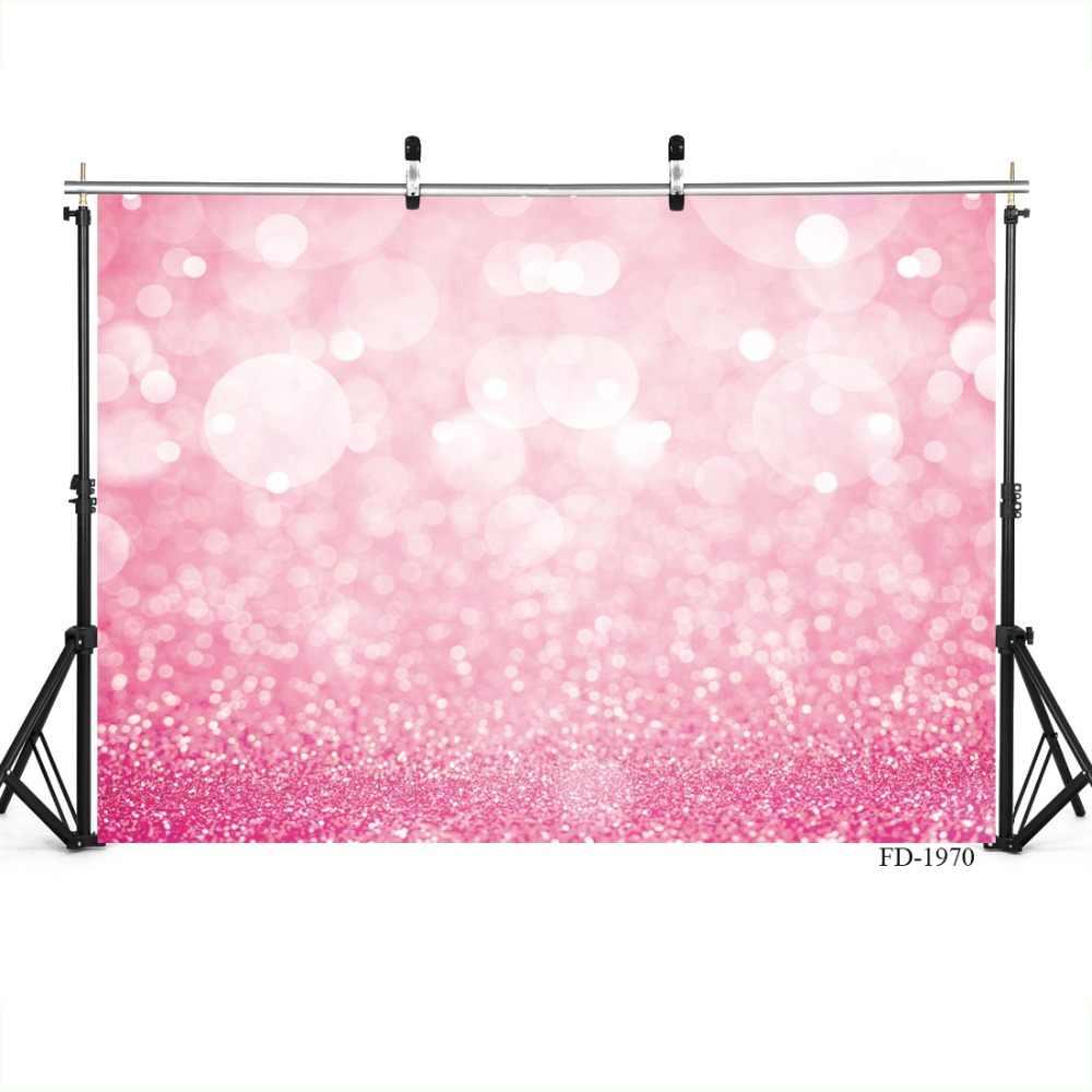 Màu hồng Glitters Ánh Sáng Bokeh Nền Nhiếp Ảnh Tùy Chỉnh Phông Nền Chụp Ảnh Cho Hình Ảnh Phòng Thu Bé Trẻ Em Ảnh Vụ Nổ Súng