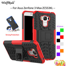For Cover Asus Zenfone 3 Max ZC553KL Case TPU & PC Holder Armor Bumper Phone Case For Asus Zenfone 3 Max ZC553KL Cover 5.5'' red line для asus zenfone 3 max zc553kl
