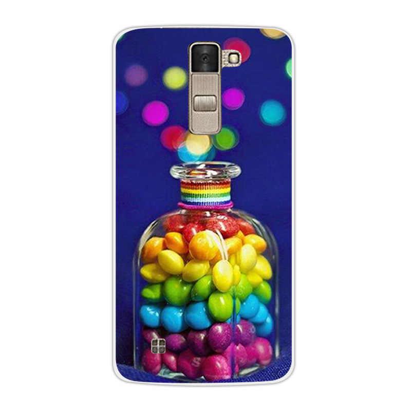 لينة السيليكون حالة كوكه ل LG K8 LTE K350E K350N 5.0 بوصة ل LG K8 الغطاء الخلفي شفافة فوندا ل LG K8 حالة مضحك القط كابا
