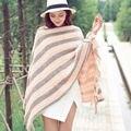 2017 Nuevo Estilo de Moda de Invierno Caliente del Poncho Y Capesmujier Mujeres caliente de Dos Colores de Acrílico Rnitted Suéter Chales Coat Venta Caliente Cape