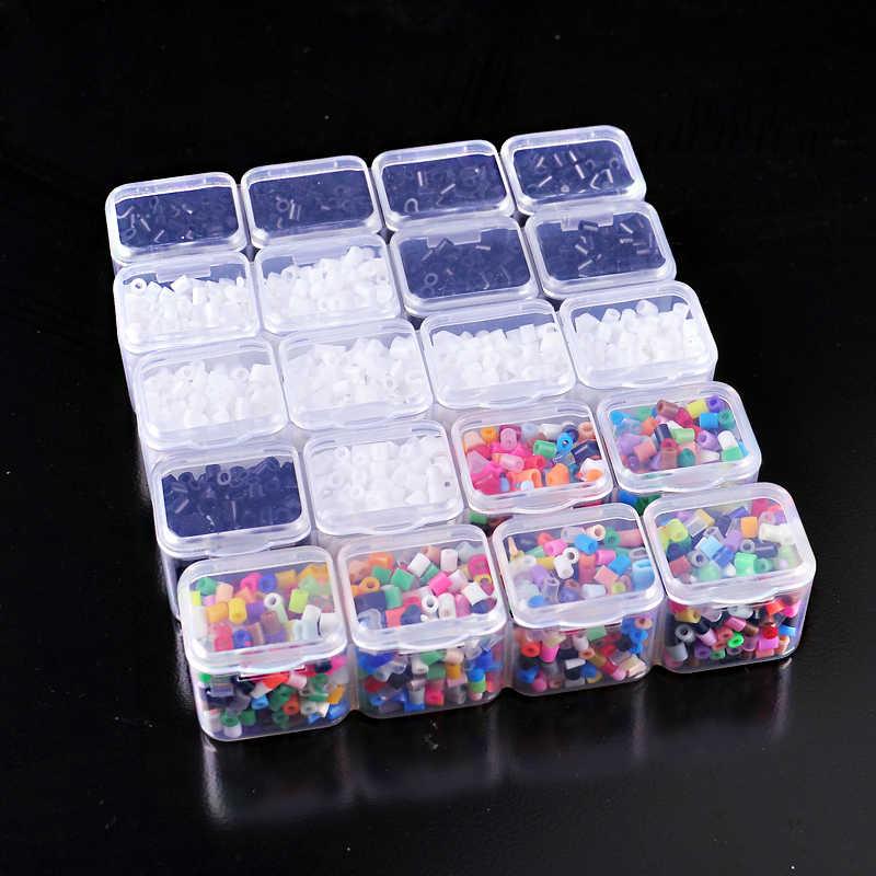 1000 قطعة 2.6 مللي متر مصغرة حبات حماة المواد الصمامات/خرز Perler لصنع كارون بكسل الشكل بانوراما ألعاب تعليمية الطبقة