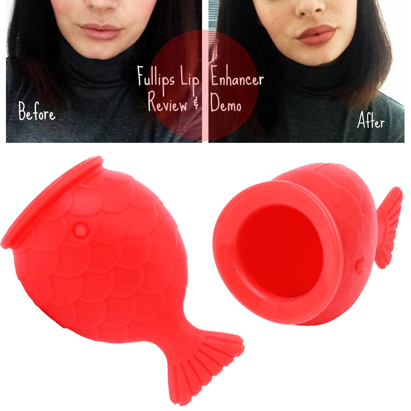 Women Silicone Sexy Full Lip Plumper Tools Fish Shape Lip Enhancer Device Nipple Increase Lips Plump Pro Lip Care Tools