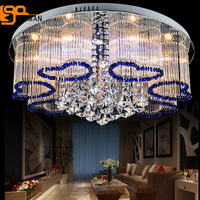 Free shipping new modern blue chandelier crystal lamp ceiling fixture home lighting
