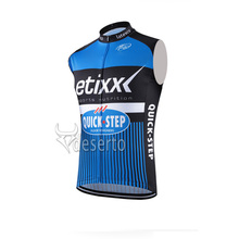 2016 cycling jersey pro team Men's New Hot etixx QUICK STEP cycling sleeveless jersey vest cheap-clothes-china Breathable Sport