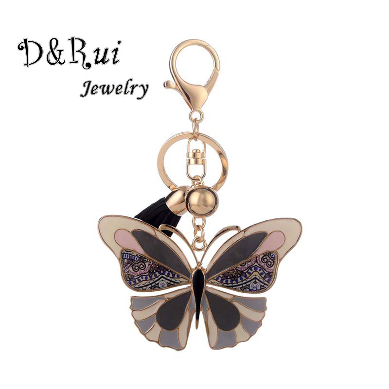 Colorful Butterfly Keychains Enamel Alloy Key Chain Ring Jewelry Trinket Kpop Accessories Keychain For Women Luxury Best-selling