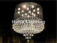 Free Shipping D60cm Modern K9 Crystal Ball Style K9 Crystal Chandelier Large LED Clear Crystal Pendant Lamps AC 100% Guaranteed