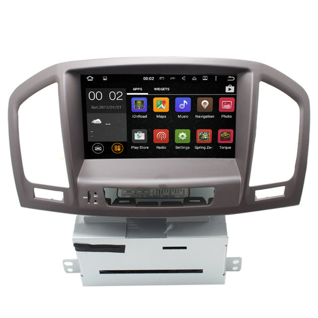 Android 5.1 car radio navegação gps para Opel Insignea com 1024*600 HD áudio RDS, SWC, controle bluetooth controle da roda de boi