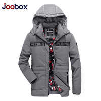 JOOBOX 2017 New Arrival Winter Jackets Men Thicken Warm Parkas Fashion Handsome Young Men Cotton Padded