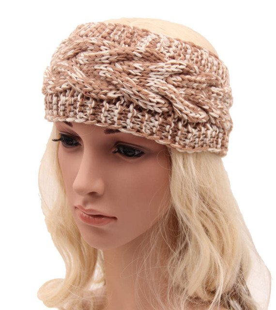 Hair Accessory 47 Wide Cable Pattern Stretch Knit Ear Warmer