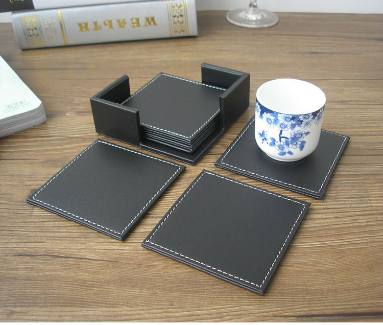 Superb Aliexpress.com : Buy 10x10 Cm 6PCS/set Square PU Leather Coffee Tea Cup  Coaster Pad Bar Coffee House Table Mat Mats Coasters 2035A From Reliable  Padded ...