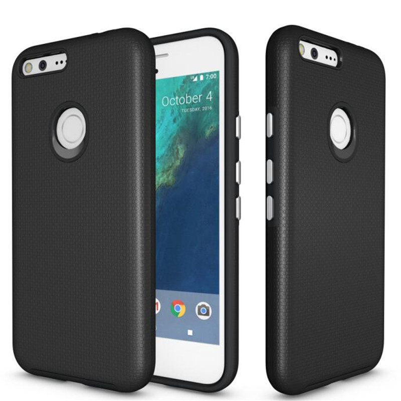 For Google Pixel XL Case Anti-Knock TPU PC Plastic Dual Heavy Duty Armor Shield Cover For Google Pixel XL Mobile Phone 5.5