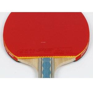 Image 3 - DHS 6002 טניס שולחן מחבט עם כיסוי טניס גומי מקצועי אימון פינג פונג מחבטי ההנעה חג המולד מתנה