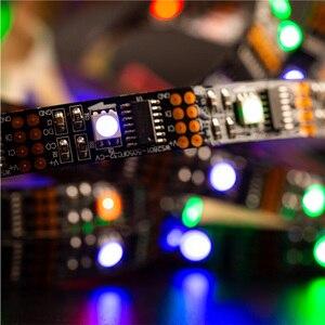 Image 5 - WS2801 RGB Led قطاع ضوء 5V 1m 2m 3m 4m 5m 32 المصابيح 2801 رقاقة Led أضواء فردي عنونة 12 مللي متر كامل حلم اللون IP30 67