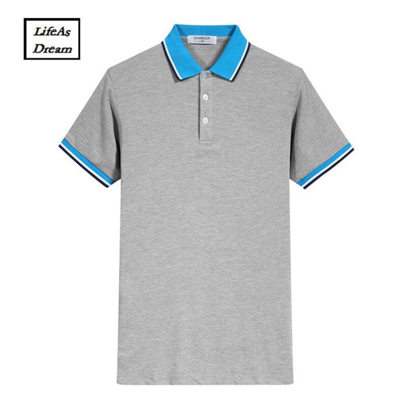 2018 Top Solide Marque Nouveau Hommes de Polo Shirt Hommes Coton À Manches Courtes Sportspolo Maillots Golftennis-3xl Camisa Polos Homme