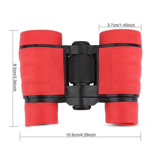 Mini Children Binoculars Soft Rubber Zoom Telescope 4X30 HD Glass lenses Scope Outdoor Sports Activeties Boys Game Binoculars