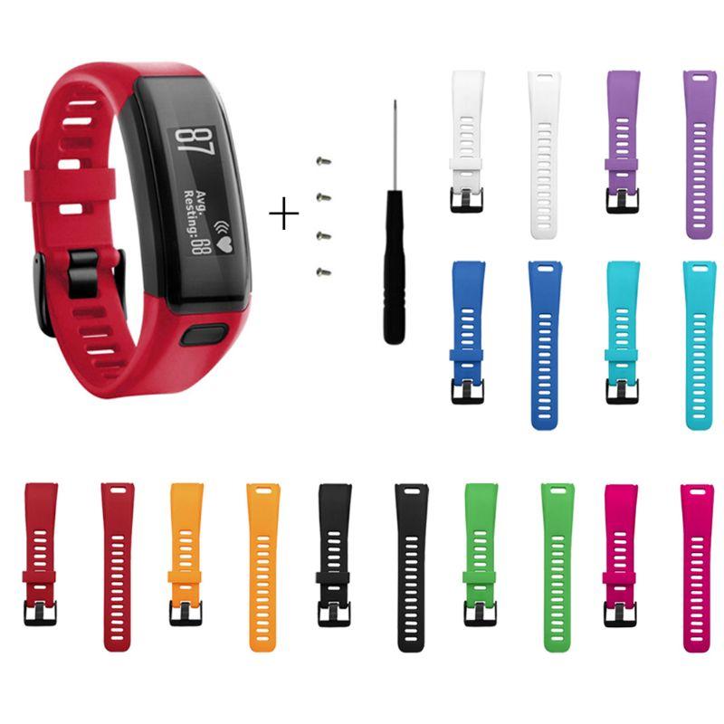 Replacement Soft Silicone Bracelet Strap WristBand For Garmin Vivosmart HR