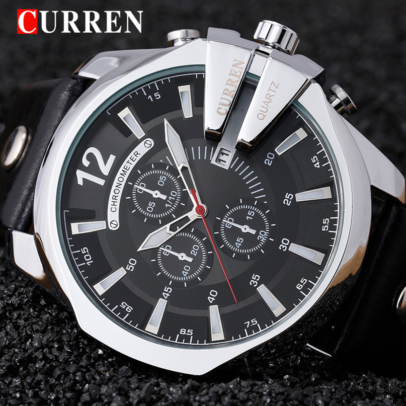 Curren 8176 Mens Watches Top Brand Luxury Gold Male Watch Men Fashion Leather Strap Sport Quartz Watch Outdoor Casual Wristwatch mens watch top luxury brand fashion hollow clock male casual sport wristwatch men pirate skull style quartz watch reloj homber