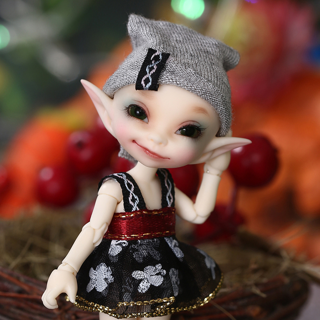 Realpuki Papilio FreeShipping Fairyland FL Doll BJD 1/13 Pink Smile Elves Toys for Girl Tiny Resin Jointed Doll