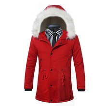 S-XXL 2016 male high-grade pure cotton slim hooded cotton-padded clothes/Thickening of male warm pure color cotton jacket