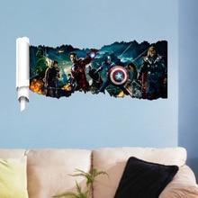 Dream home ZY1432 new avengers kids bedroom background wall sticker removable waterproof wall sticker