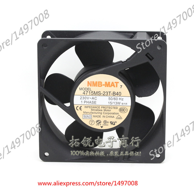 NMB-MAT 4715MS-23T-B40, MA0 AC 230V 15W , 120x120x38mm Server Square fan free shipping for nmb 4715ms 10t b40 b00 ac 100v 14w 120x120x38mm server cooling square fan page 7