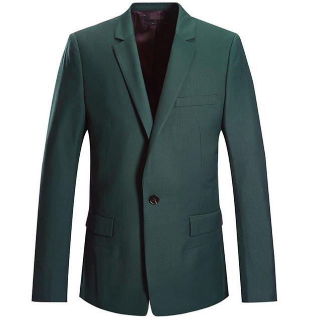 Красивый мужчины темно-зеленый пальто горячая продажа новый отдых мужской пиджак высокое качество простой пользовательский стиль нагрудные одноместный грудью blaze
