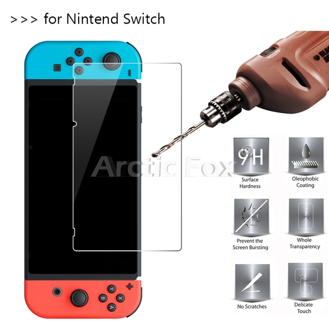 10 Pcs/Lot 2.5D 0.26mm Premium Tempered Glass For Nintend Switch Screen Protector Toughened protective film For Nintend Switch