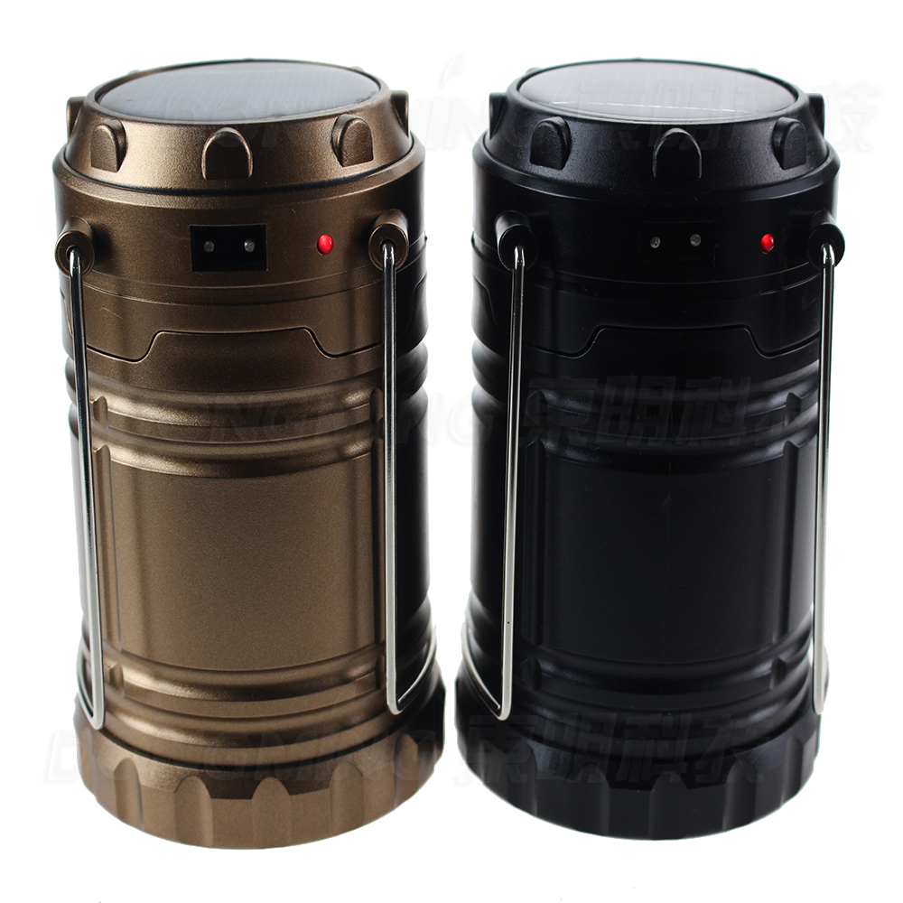 Ultra Bright Collapsible 6 Led Lightweight Solar Camping Lanterns Light For Hiking Camping Emergencies Hurricanes Outages