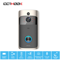 CCTHOOK Wireless Video Doorbell Camera Wi Fi 720P HD IP Camera PIR Motion Sensor Battery Power