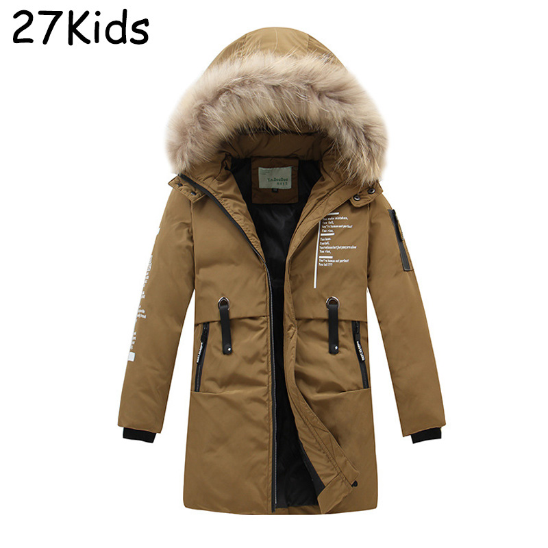 New Brand Winter Jacket Boy 90% White Duck Down Jacket Hooded Parkas Kids Down Jacket Thickening Outerwear Jackets Coat hh kids winter jacket thick duck down boy natural hair collar hooded long coat girl parkas russia jacket children outerwear