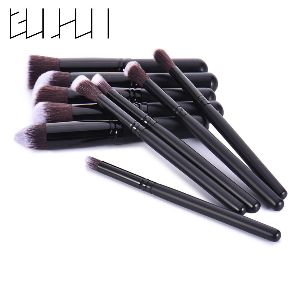 10pcs Professional Face Blusher Makeup Brush Set Maquiagem Beauty Foundation Powder Contour Eyeshadow Cosmetic Make Up Brushes 10pcs make up brush set foundation makeup brushes kit professional nylon hair cosmetic face hand to beauty kabuki powder brush