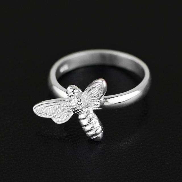 Lotus Fun Cute Honeybee Rings Genuine 925 Sterling Silver Fine Jewelry New Fashion Accessories For Women