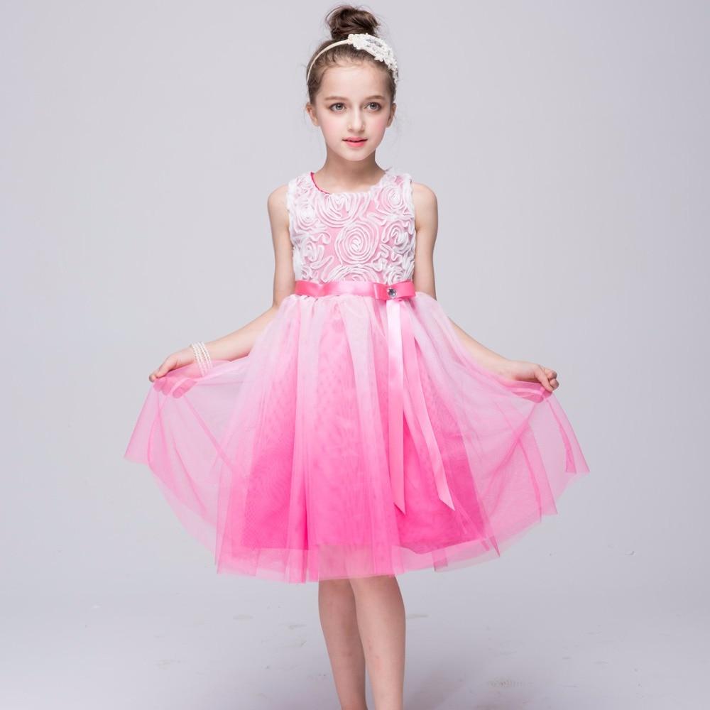 AD Mädchen Partei Pageant Kleid Kinder Abend Tanzen Ballerina ...