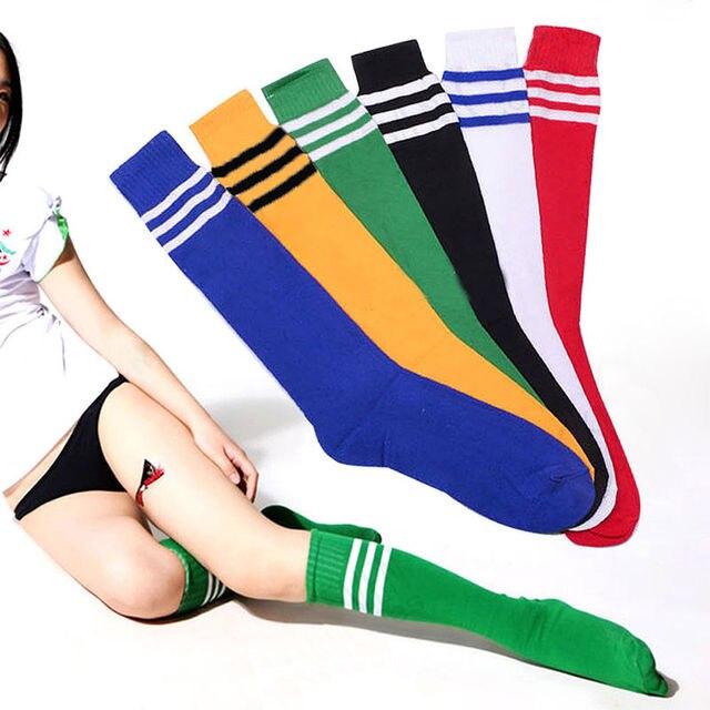 20e62a1cda5e 1 pair Ankle Socks Soccer Baseball Football Basketball Over Knee Socks  World Cup Sport Cheerleading Soft