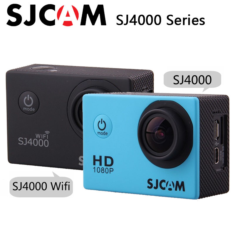 цена на Original SJCAM SJ4000 / SJ4000 WiFi Sport Action Camera 2.0 inch 1080P HD Waterproof Camcorder Underwater sj cam mini Sports DV