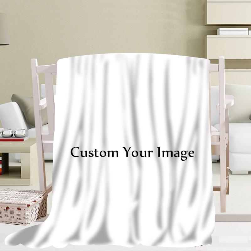 HOT Custom Print Your Pattern Blanket 3D Printing Soft Blanket Throw on Home Sofa Bedding Portable