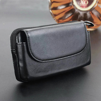 Belt Clip Genuine Cow Leather Cell Phone Case Pouch For Galaxy C7 2017 J7 C8 S8